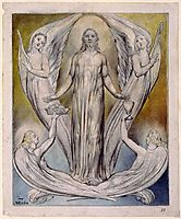 Angels Ministering to Christ, 1820, blake