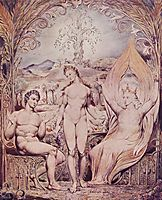 Archangel Raphael with Adam and Eve, 1808, blake
