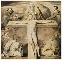 Christ Nailed to the Cross The Third Hour, c.1803, blake