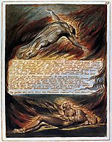 The Descent Of Christ, 1820, blake