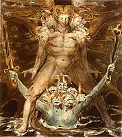 The Great Red Dragon and the Beast from the Sea, 1805, blake