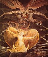 The Great Red Dragon and the Woman clothed with the sun, 1810, blake