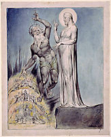 Illustration to Milton`s Comus , 1820, blake