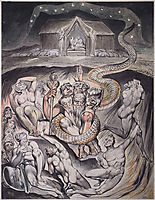 Illustration to Milton`s On the Morning of Christ`s Nativity , 1809, blake