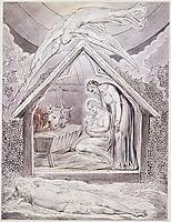 Illustration to Milton`s On the Morning of Christ`s Nativity , 1809, blake