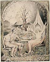 Illustration to Milton`s Paradise Lost , 1807, blake