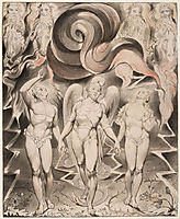 Illustration to Milton`s Paradise Lost , 1807, blake