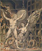 Illustration to Milton`s Paradise Lost , 1808, blake