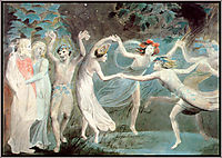 Oberon, Titania and Puck with Fairies Dancing, c.1786, blake