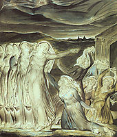 The parable of the wise and foolish virgins, 1822, blake