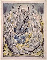 Satan Addressing his Potentates, 1818, blake