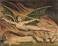 Satan Exulting over Eve, 1795, blake