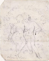 Sketch for Satan Watching the Endearments of Adam and Eve, blake