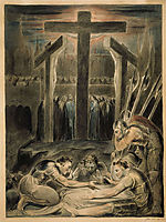 The Soldiers Casting Lots for Christ-s Garments, 1800, blake