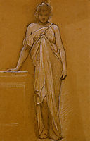 Study of a Classical Maiden, blake