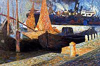 Boats in Sunlight, 1907, boccioni