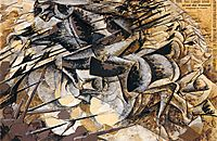 The Charge of the Lancers, 1915, boccioni