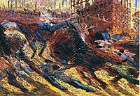 The City Rises, boccioni