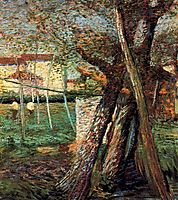 Countryside with Trees, 1908, boccioni
