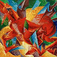 Dimensional shapes of a horse , 1913, boccioni