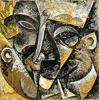Dynamism of a man-s head, 1913, boccioni