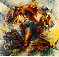 Dynamism of a soccer player, boccioni