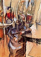 Interior with Two Female Figures , boccioni