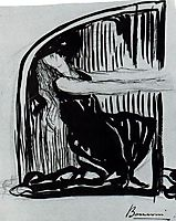 Kneeling Allegorical Figure , boccioni