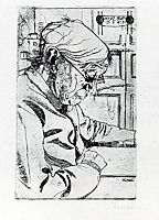 María Sacchi Reading, 1907, boccioni