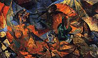 Nude (complementary model of form-color), 1913, boccioni