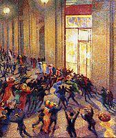 Riot in the Galleria, 1909, boccioni