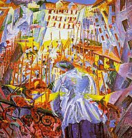 The Street Enters the House, 1911, boccioni
