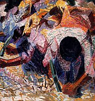 The Street Pavers, 1914, boccioni