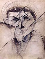 Study for sculpture -Empty and full abstracts of a head-, 1912, boccioni