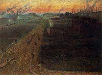 Twilight, 1909, boccioni