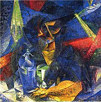 Woman in a Café: Compenetrations of Lights and Planes, 1912, boccioni