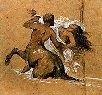 Centaur and nymph, bocklin