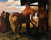 Centaur at the Village Blacksmith-s Shop, 1888, bocklin