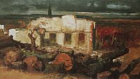 Destroyed house in Kehl, 1870, bocklin