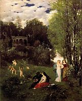 Ideal spring landscape, 1871, bocklin