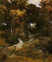 Nymph by the  fountain , bocklin