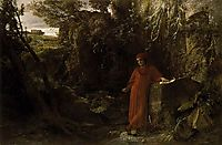 Petrarch by the fountain of Vaucluse, bocklin