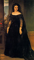 Portrait of actress Fanny Janauscher, bocklin