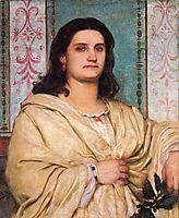 Portrait of Angela Böcklin as muse, bocklin