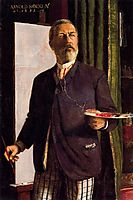 Self-Portrait in Studio, 1893, bocklin