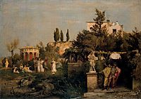 Tavern in ancient Rome, 1867, bocklin