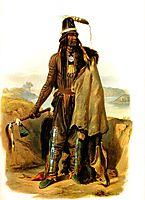 Abdih Hiddisch, Mandan Chief, 1832, bodmer