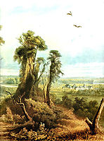 Along the Wabash [ Right ], 1834, bodmer