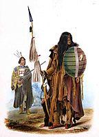 Assiniboin Indians, c.1843, bodmer