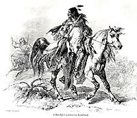 Blackfeet warrior on horseback, c.1833, bodmer